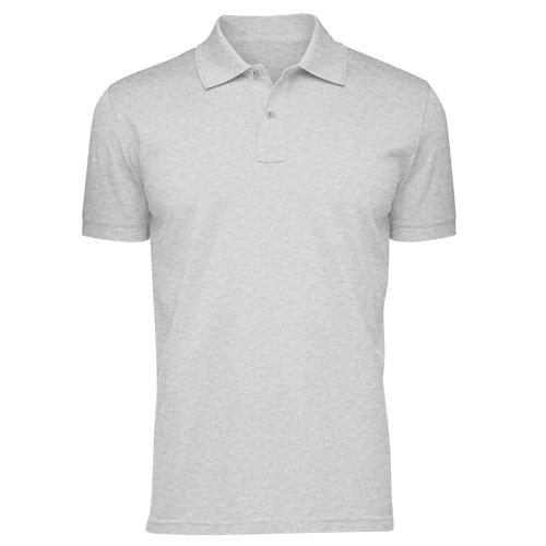 Áo thun phông đồng phục cổ trụ màu xám CT0003