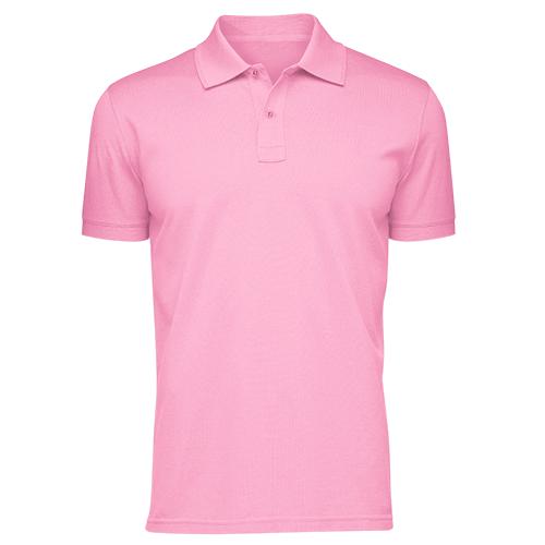 Áo thun phông đồng phục cổ trụ màu hồng phấn CT0004
