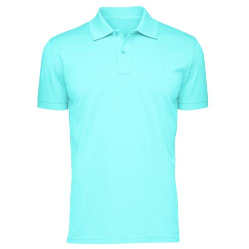 Áo thun phông đồng phục cổ trụ màu xanh biển CT0006