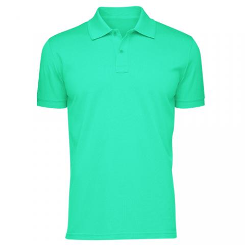 Áo thun phông đồng phục cổ trụ màu xanh ngọc CT0009