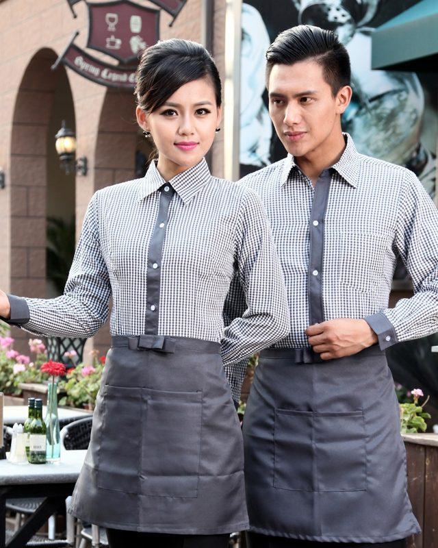 Đồng phục sơ mi tạp dề nhà hàng - khách sạn NHKS00013