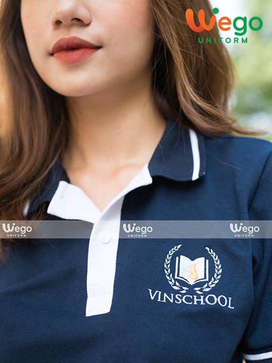 Áo phông đồng phục học sinh trung học Vinschool là thiết kế có màu sắc và kiểu dáng đẹp, do Đồng Phục Wego thiết kế với phong cách cá tính-1