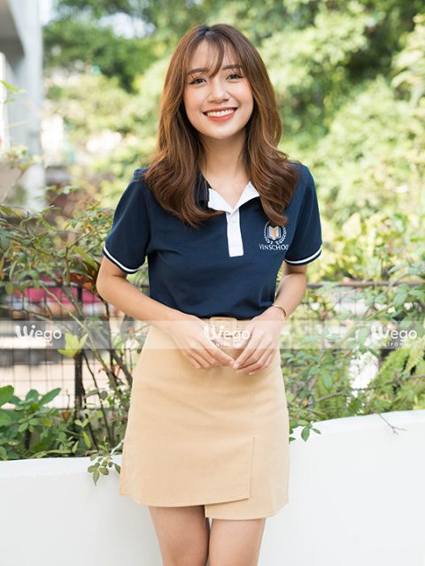 Áo phông đồng phục học sinh trung học Vinschool