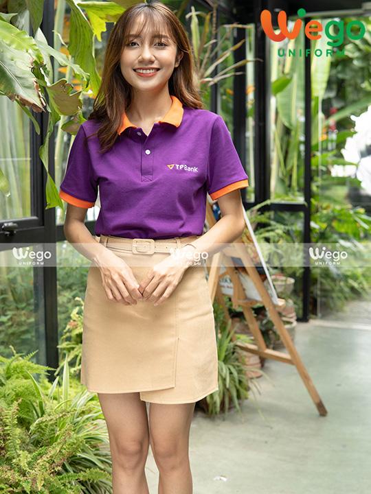 Mẫu áo phông đồng phục đẹp ngân hàng TPbank