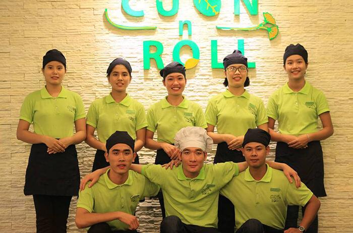 Áo phông đồng phục nhà hàng Cuốn N Roll