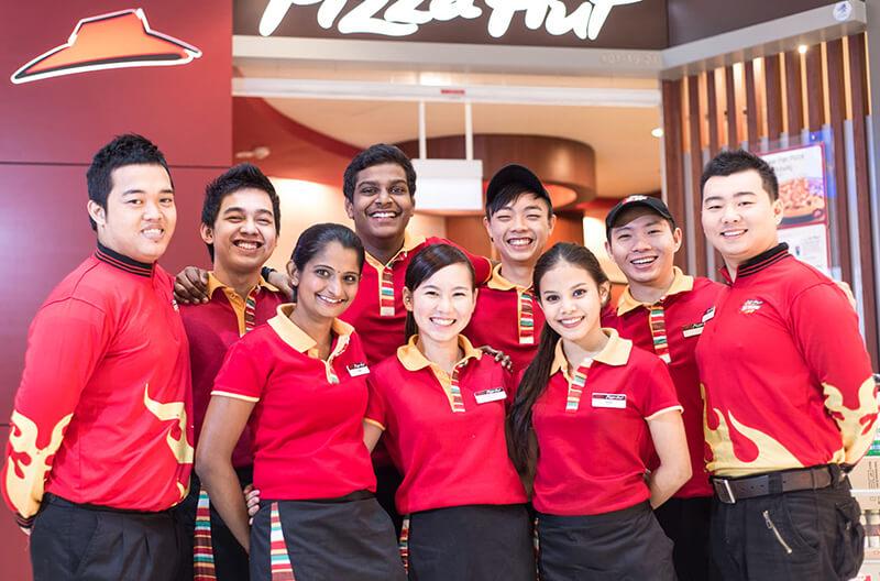Áo phông đồng phục nhà hàng Pizza Hut