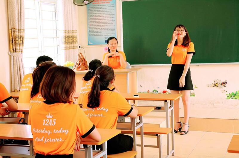 Áo phông họp lớp THCS Trương Vương