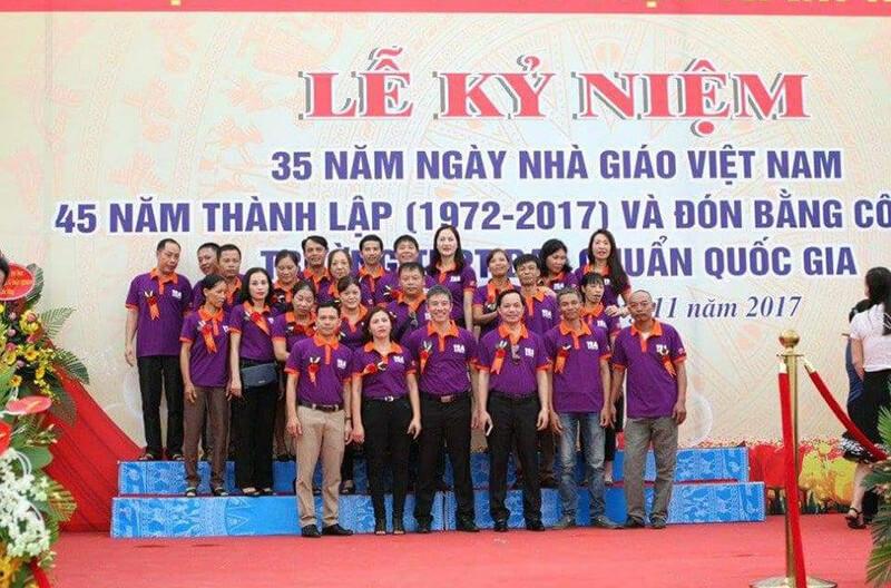 Áo phông họp lớp THPT Trần Nhân Tông