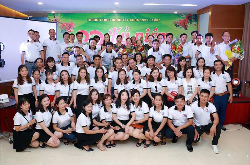 Áo phông họp lớp THPT Trương Vương