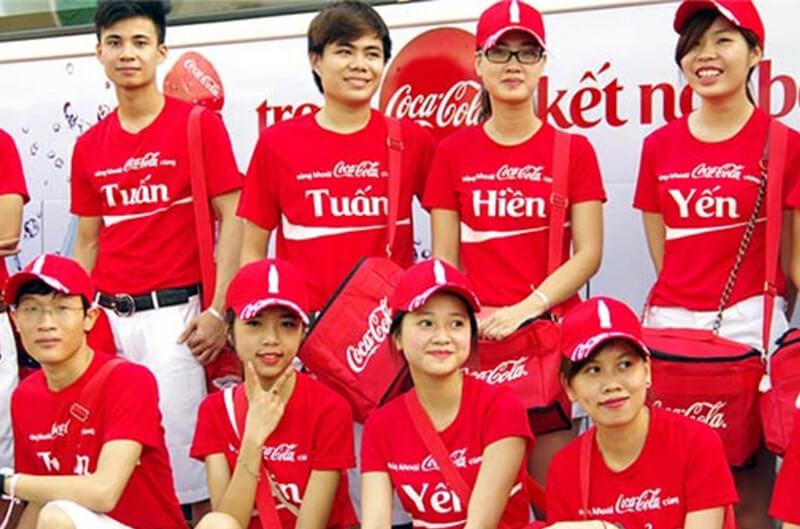 Áo phông sự kiện Coca Cola