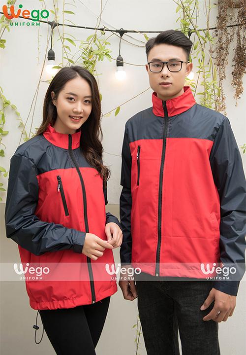 Đồng phục áo gió chống nước Wego AG002