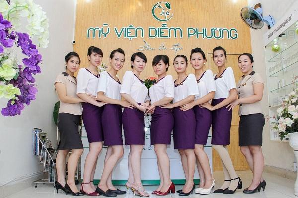 Đồng phục nhân viên mỹ viện Diễm Hương