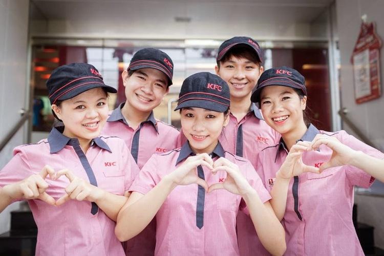 Đồng phục sơ mi nhà hàng KFC