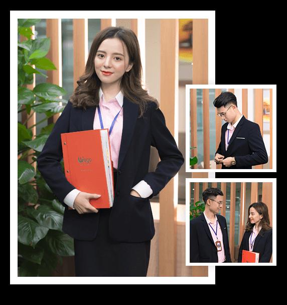 Bộ vest đồng phục công sở nam nữ DPV002 cao cấp giá tốt