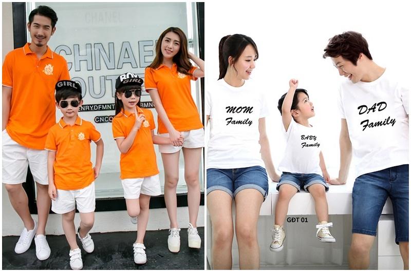 Những kiểu áo thun gia đình phổ biến nhất hiện nay-4