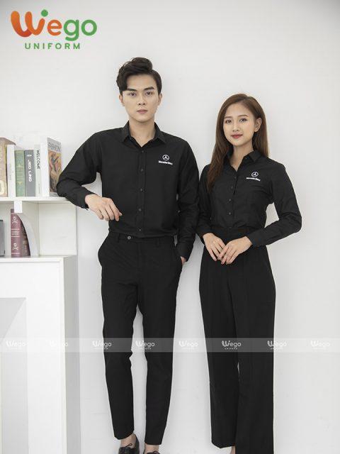 Mẫu đồng phục áo sơ mi nhân viên
