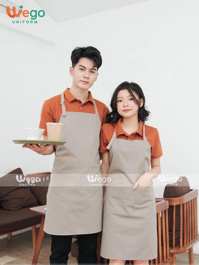 Mẫu tạp dề đồng phục nhân viên đẹp