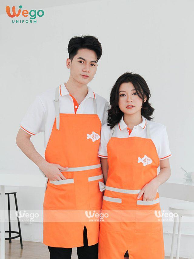 Tạp dề đồng phục đẹp cho nhân viên tiệm bánh