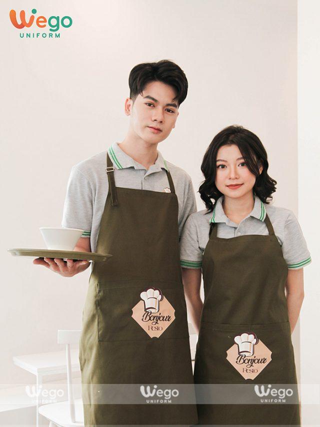 Tạp dề đồng phục tiệm bánh bền đẹp