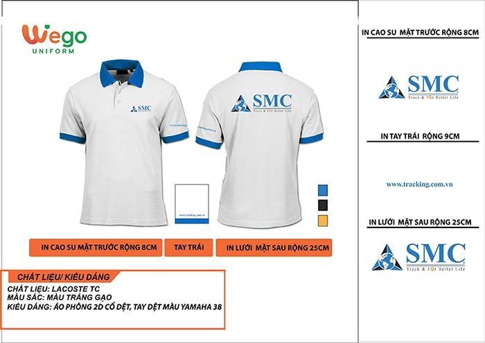 Áo phông đồng phục doanh nghiệp SMC.