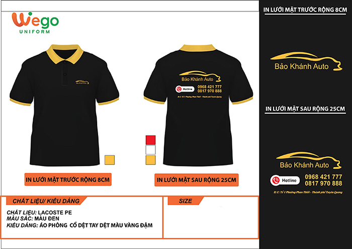 Áo phông đồng phục doanh nghiệp Bảo Khánh Auto
