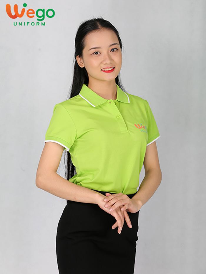Áo đồng phục Wego xanh lá