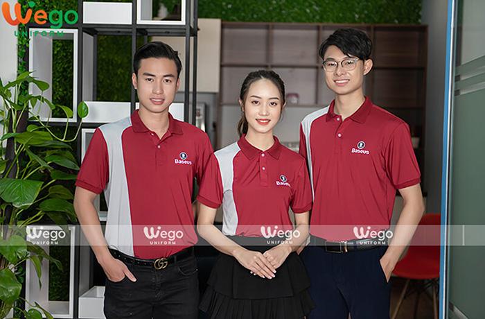 May dong phuc áo phông đồng phục doanh nghiệp Baseus