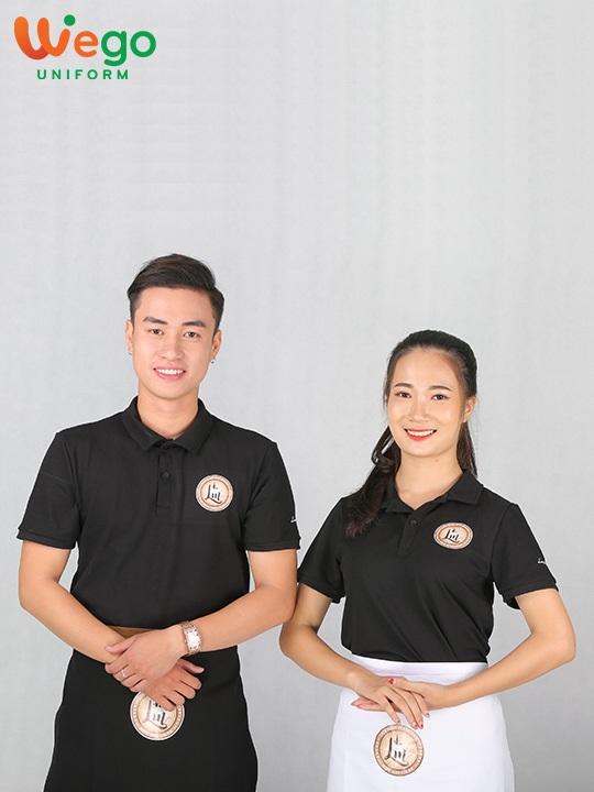 Áo phông đồng phục màu đen phong cách Luxury