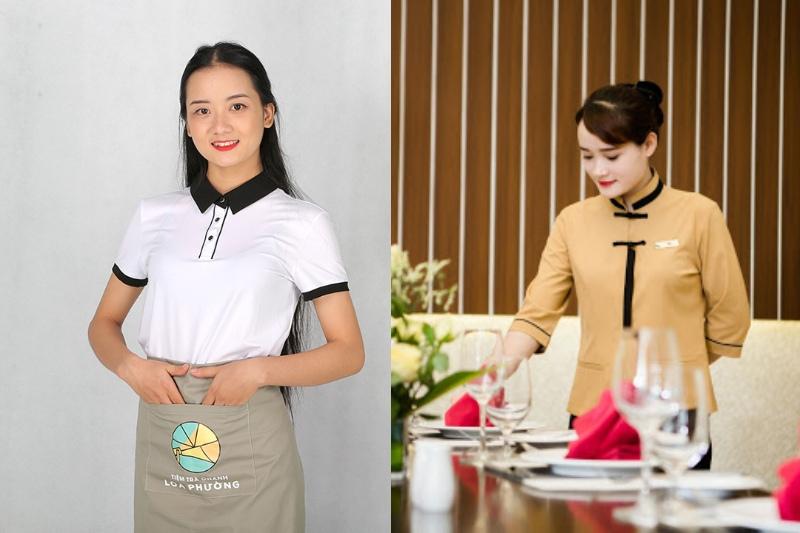 Áo đồng phục nhà hàng đẹp cao cấp