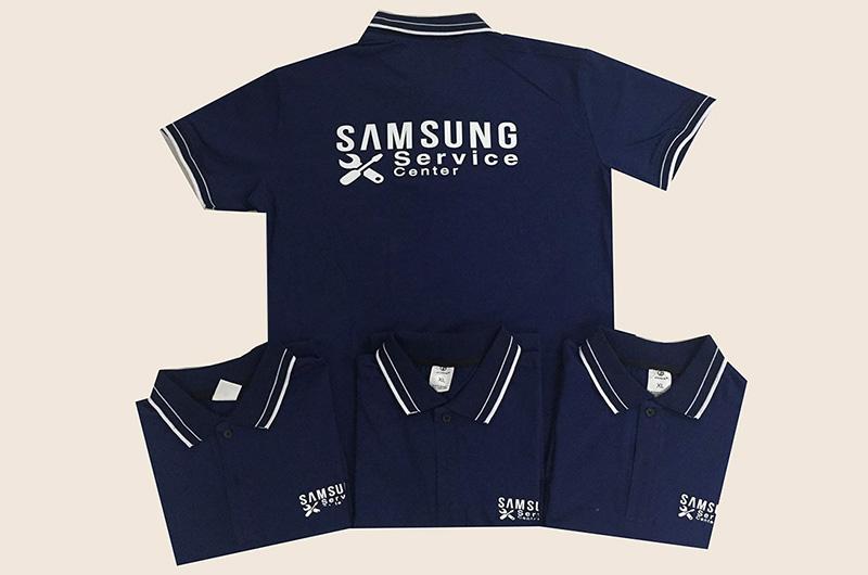 Vị trí in logo, slogan trên áo đồng phục đẹp
