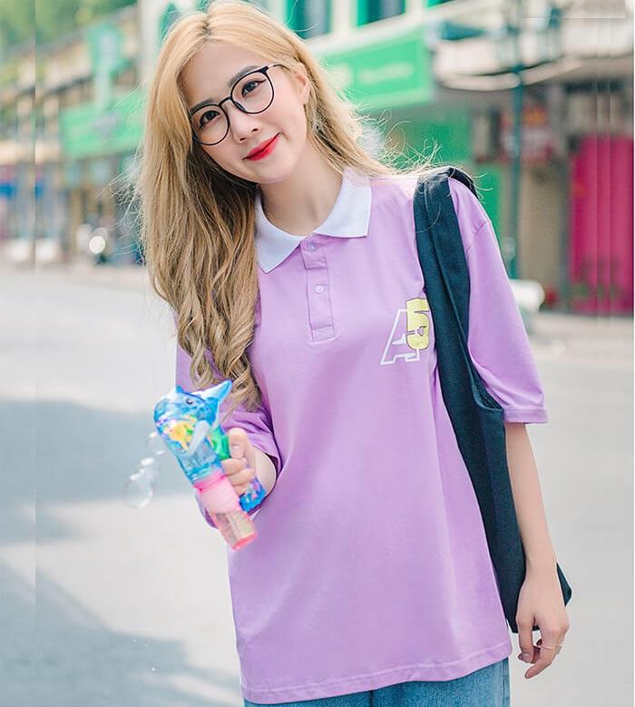 Áo đồng phục màu tím