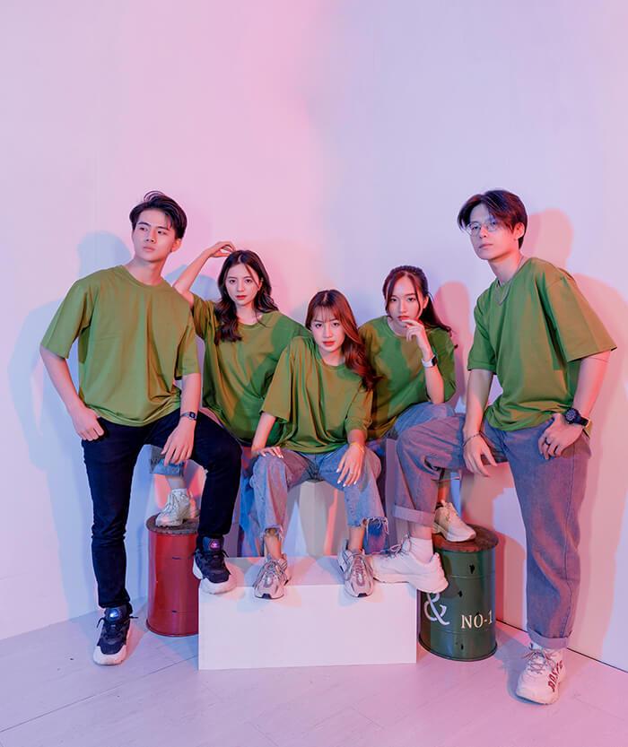 Áo nhóm màu rêu