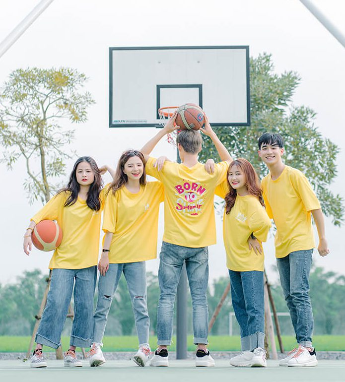 Áo nhóm màu vàng
