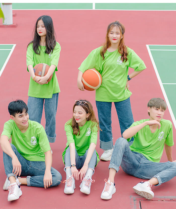 Áo nhóm màu xanh