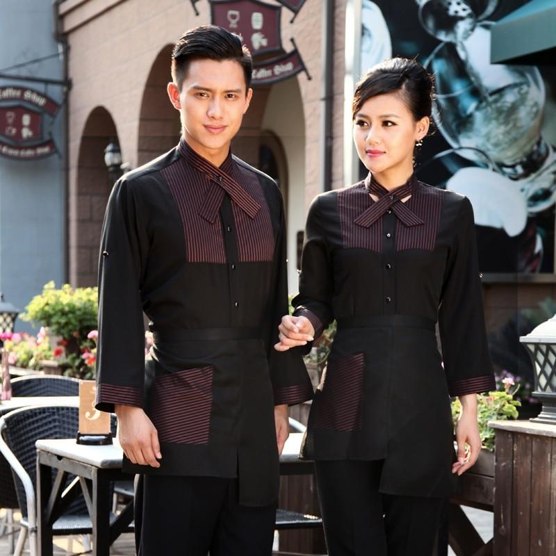 Áo đồng phục phối đen và kẻ sọc nâu đỏ