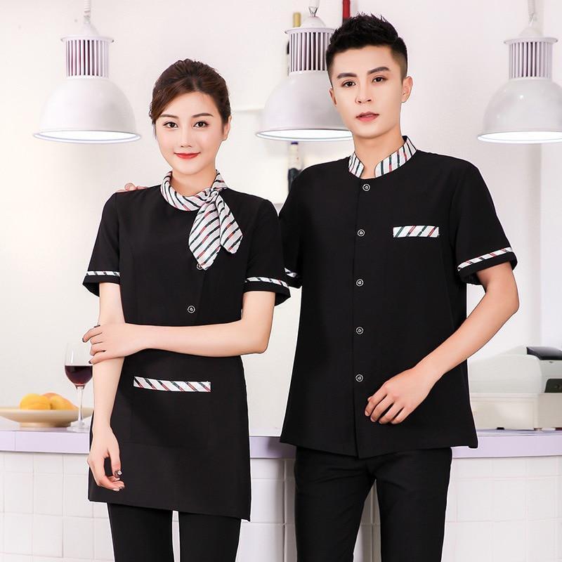 Áo đồng phục phối đen và kẻ sọc