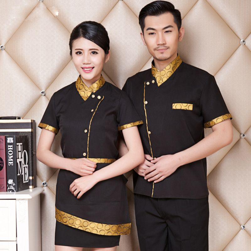 Áo đồng phục màu vàng đồng phối đen