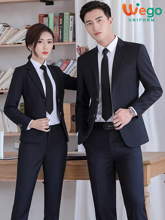Đồng phục vest công sở nam nữ DPV004
