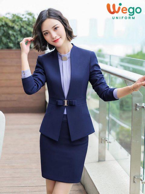 Mẫu đồng phục vest nữ đẹp DPV003