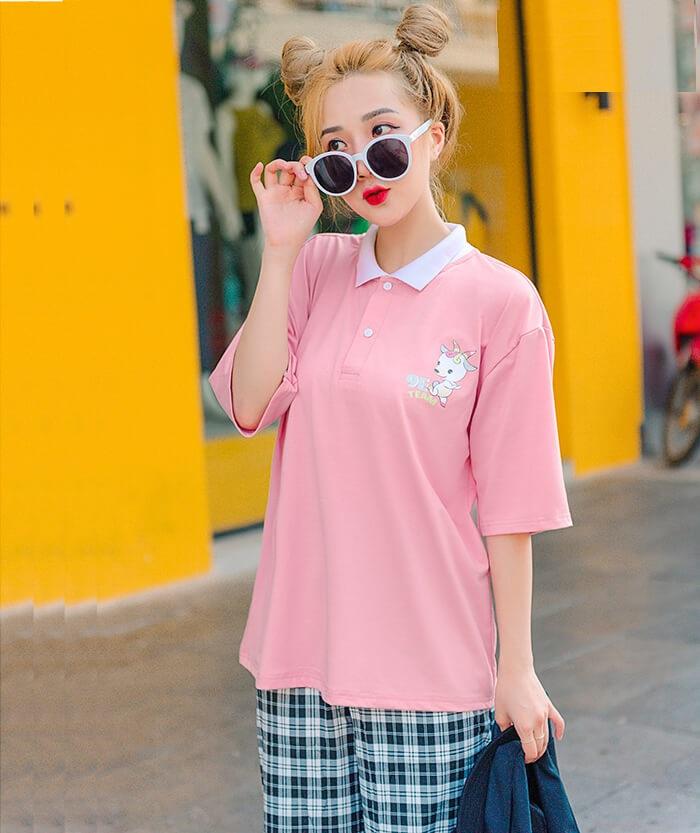 Áo đồng phục màu hồng