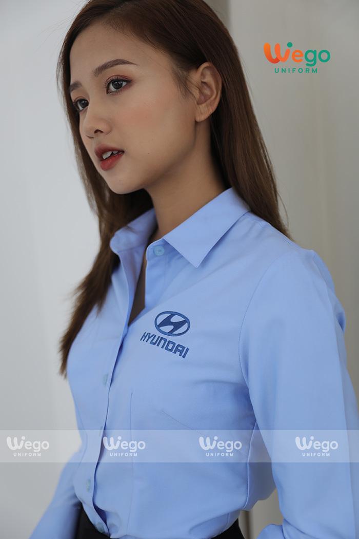 Đồng phục áo sơ mi nữ Hyundai